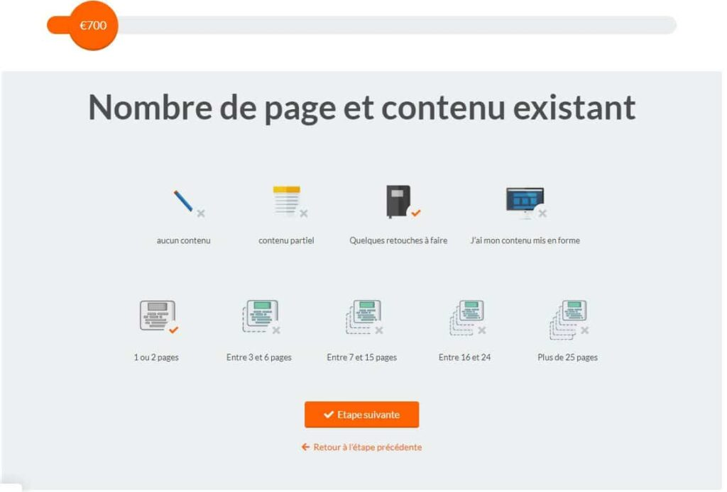 simulation prix wordpress